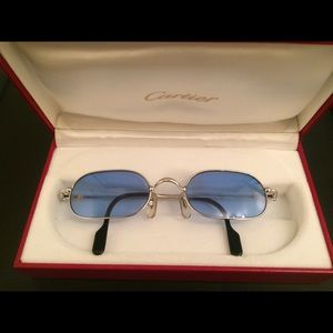 CARTIER Platinum Sunglasses (Blue Lens)